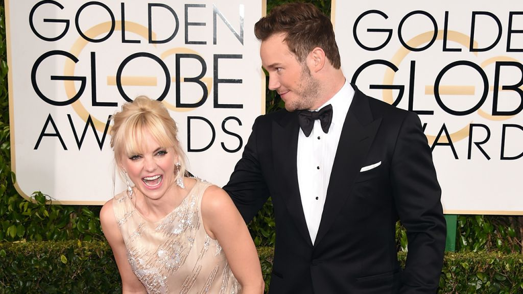 Chris Pratt and Anna Faris at 72nd Annual Golden Globe Awards