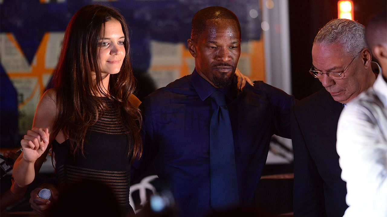 Jamie Foxx and Katie Holmes at 4th Annual Apollo In The Hamptons Benefit