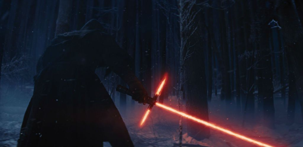 Kylo Ren in Star Wars: The Force Awakens