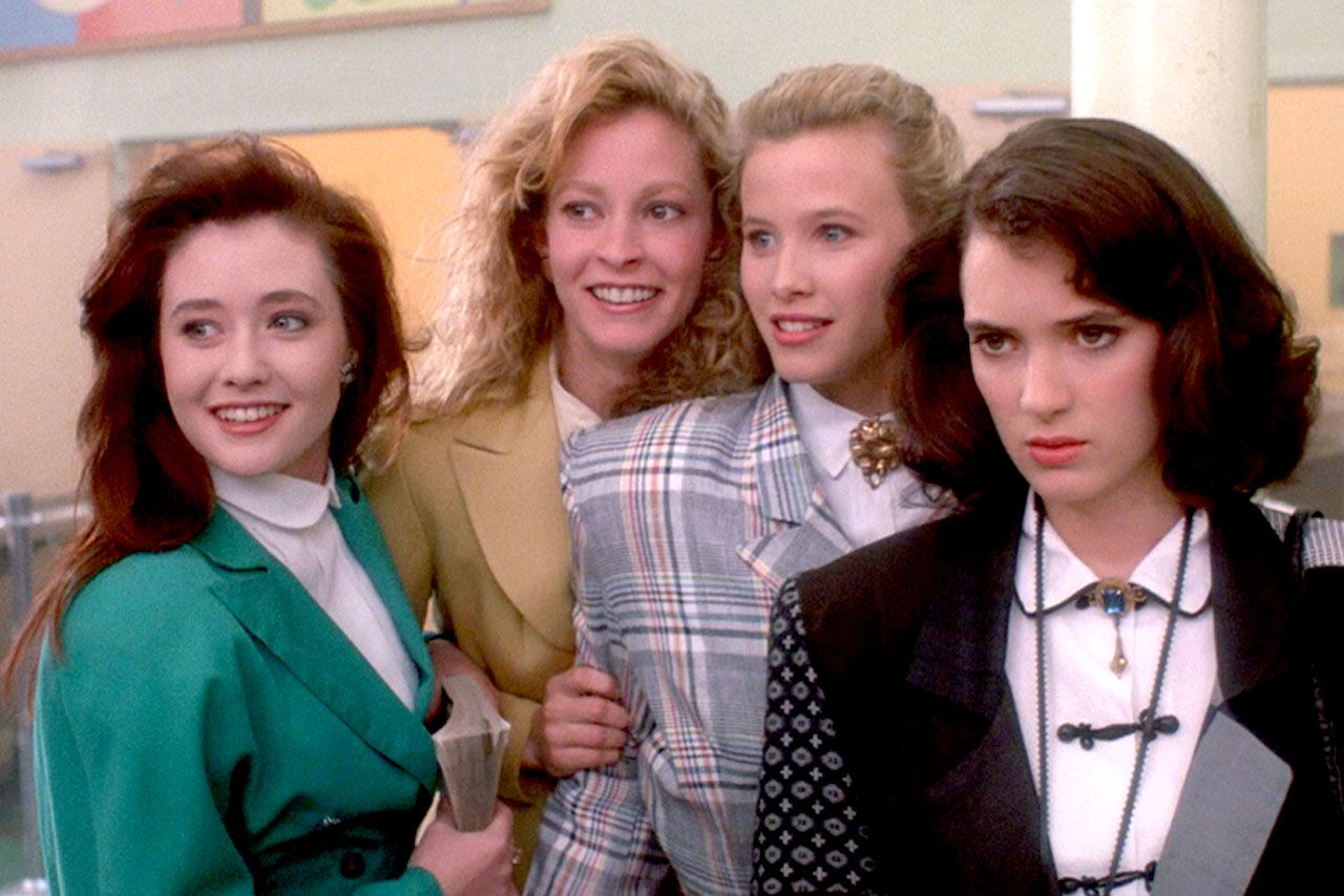 Winona Ryder and Shannon Doherty in Heathers