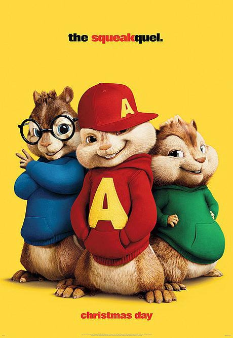 Alvin and the Chipmunks: The Squeakquel Poster #2