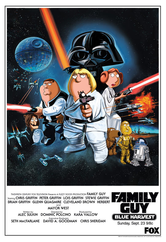 Family Guy Presents Blue Harvest Poster