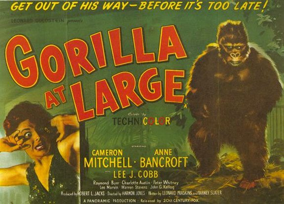 Gorilla at Large Poster #1