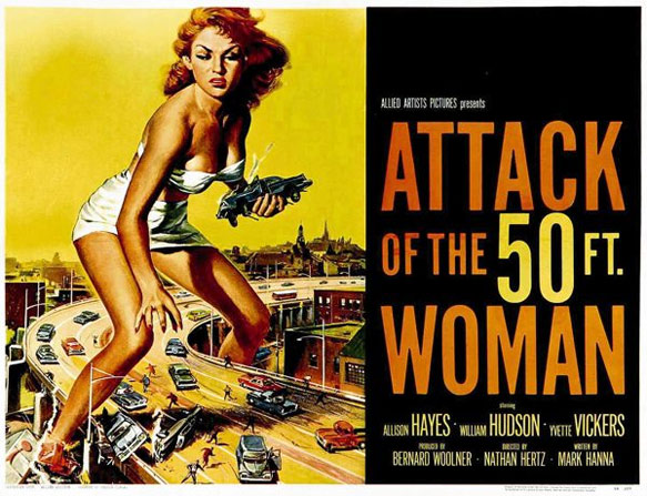 Attack of the 50 Foot Woman Poster #2