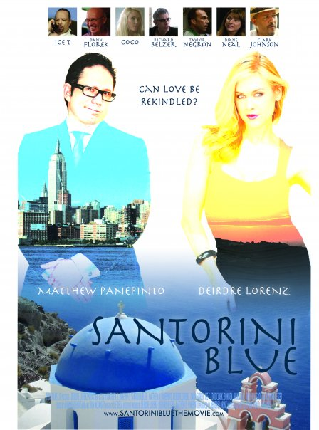 Santorini Blue Poster