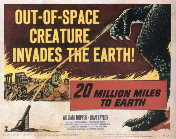 20 Million Miles to Earth Poster #2