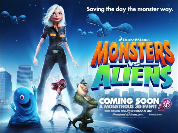 Monsters vs. Aliens Poster #12