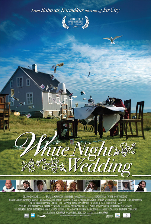 White Night Wedding Poster