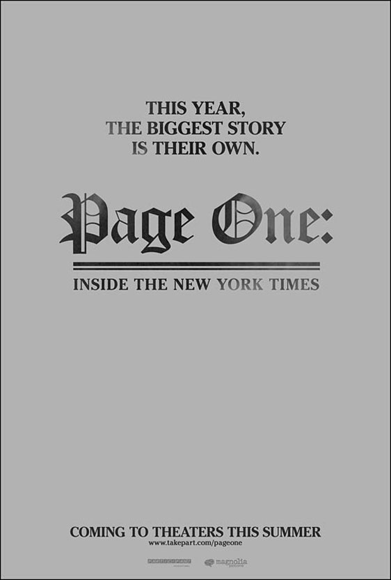 Page One: A Year Inside the New York Times Poster