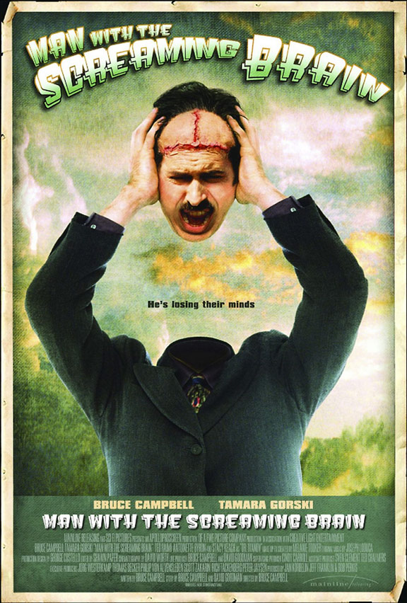 Man with the Screaming Brain Poster