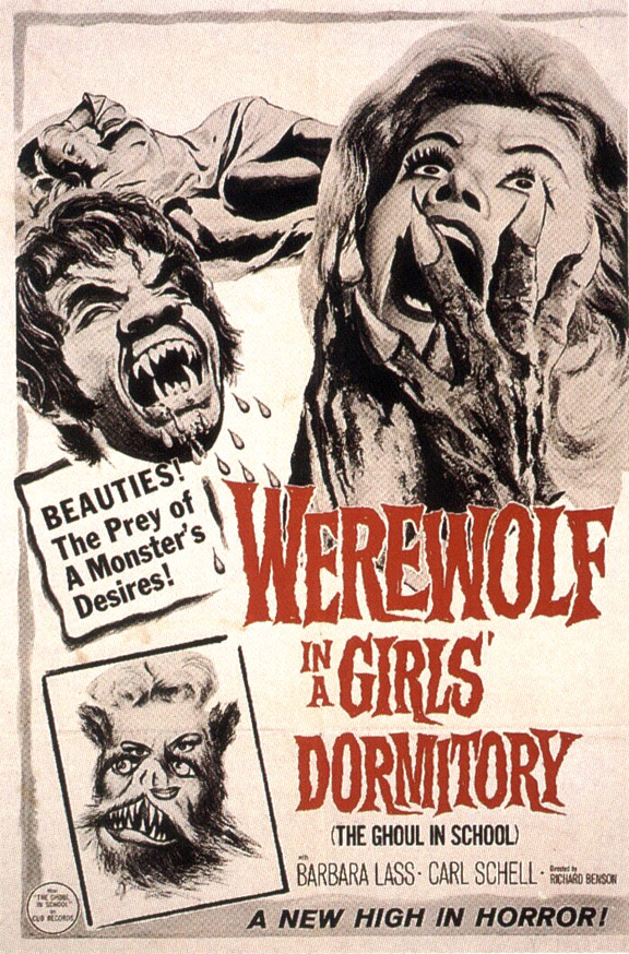 Werewolf in a Girl's Dormitory Poster