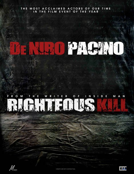 Righteous Kill Poster #1