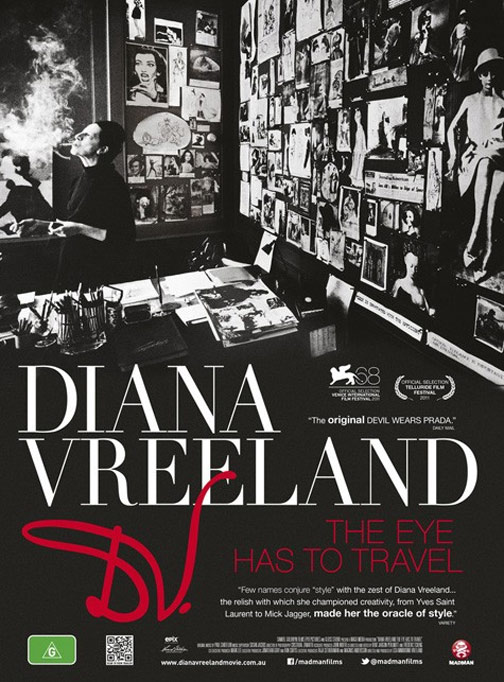 Diana Vreeland: The Eye Has to Travel Poster #2
