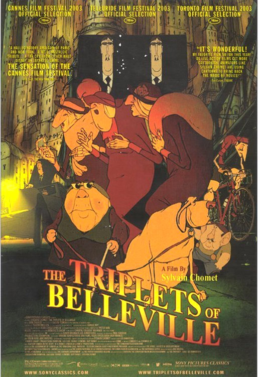 The Triplets of Belleville Poster
