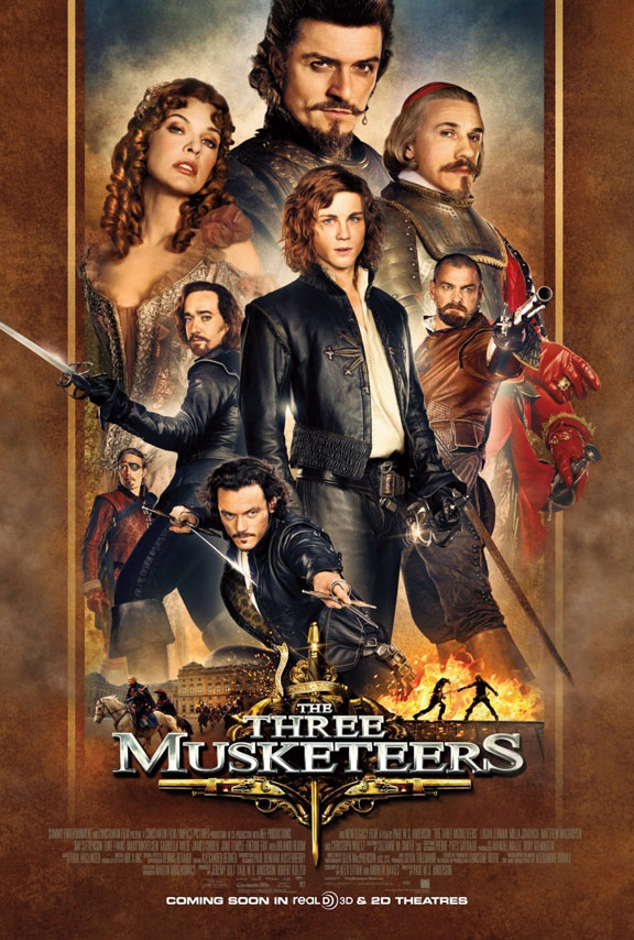 The Three Musketeers 3D Poster #1