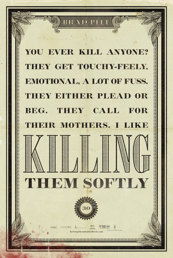 Killing Them Softly Poster #6