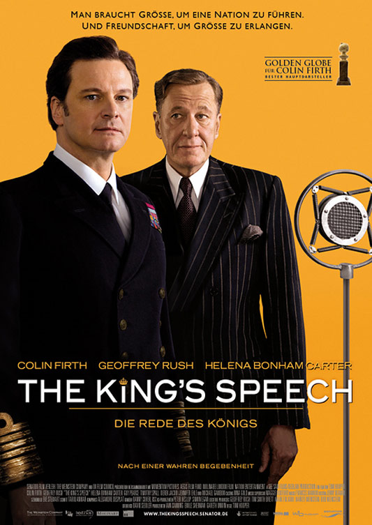kings speech The king's speech plays out on the battlefield of words, not action writer david  seidler (doing keenly insightful work partly owing to his own.