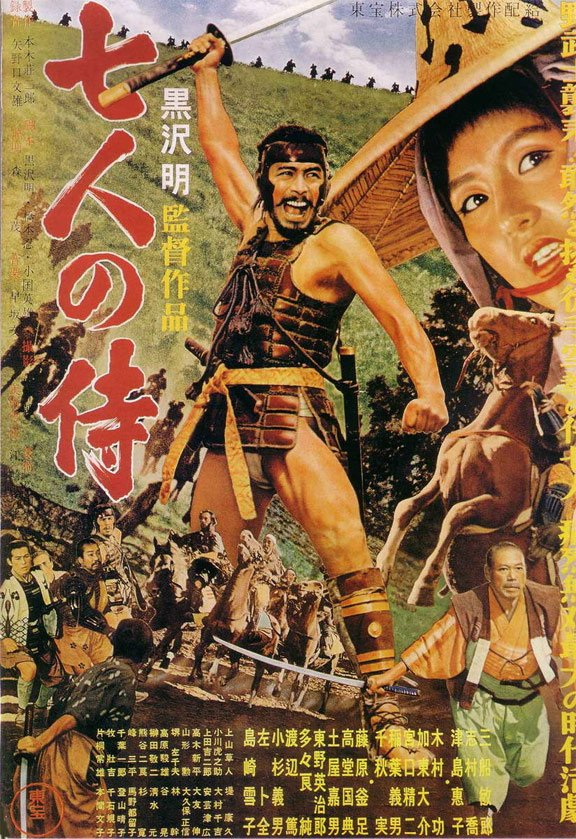 The Seven Samurai (Shichinin no samurai) Poster