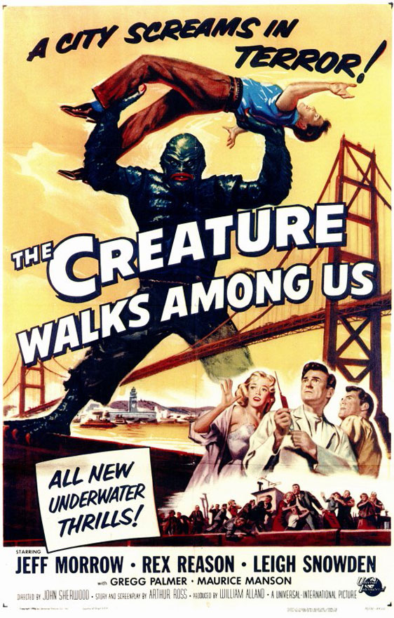 The Creature Walks Among Us Poster