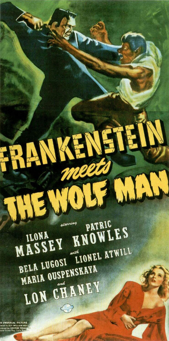 Frankenstein Meets the Wolf Man Poster #2