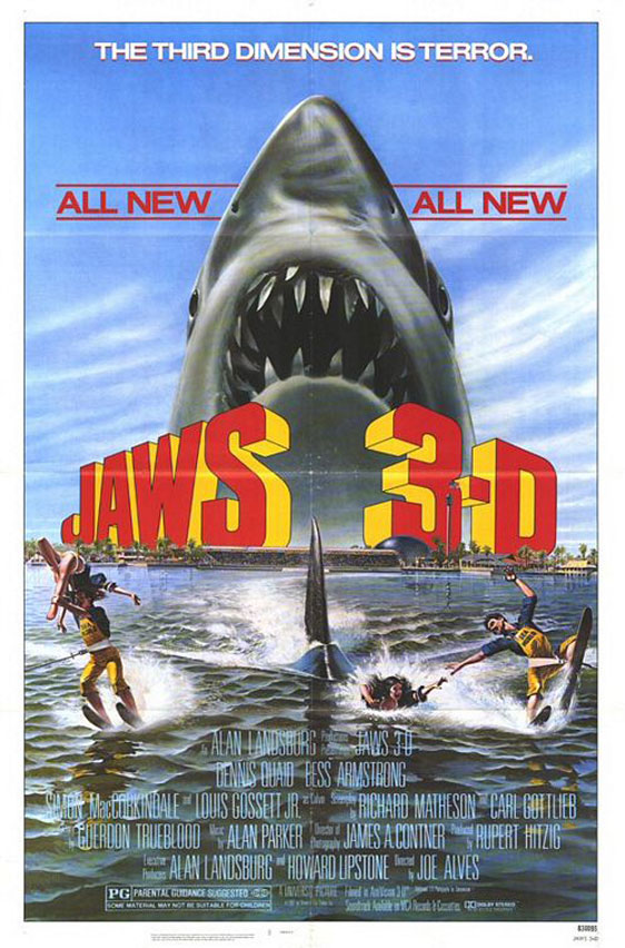 Jaws 3-D Poster #1