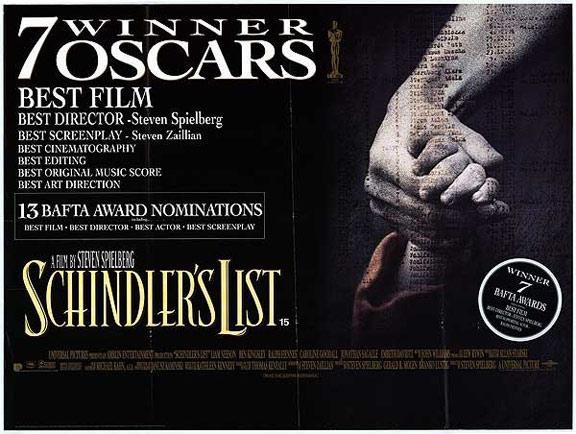 スティーヴン・スピルバーグ監督のシンドラーのリストという映画