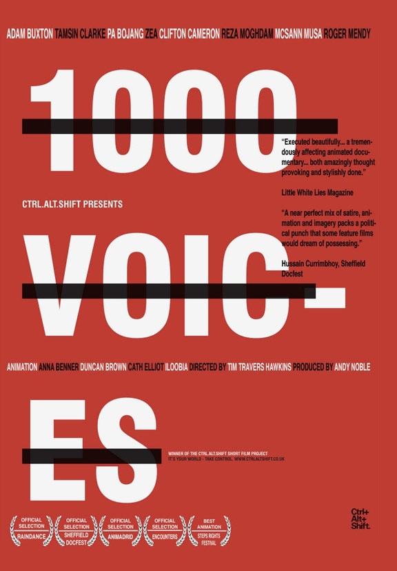 1000 Voices Poster