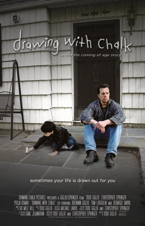 Drawing With Chalk Poster
