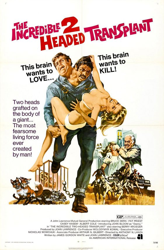 The Incredible 2-Headed Transplant Poster