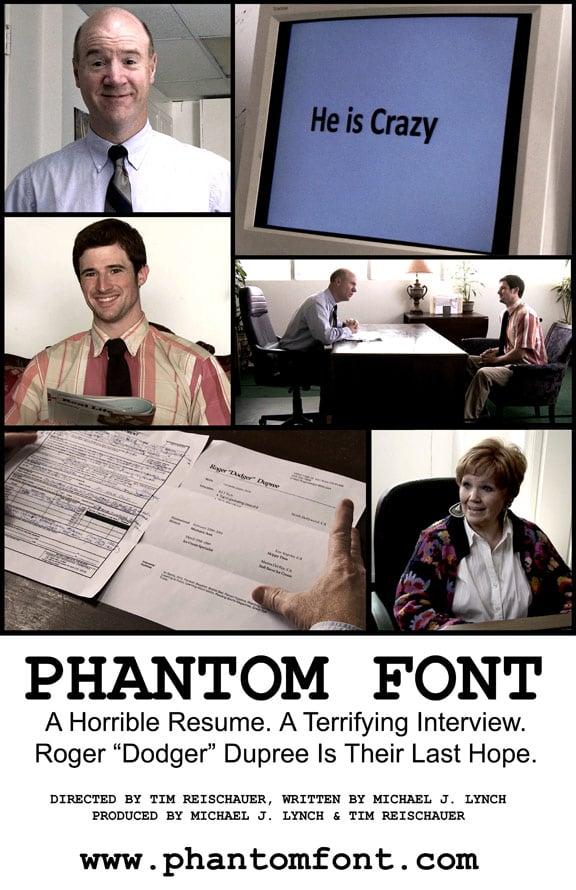 Phantom Font Poster