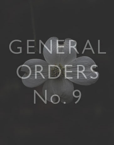 General Orders No. 9 Poster