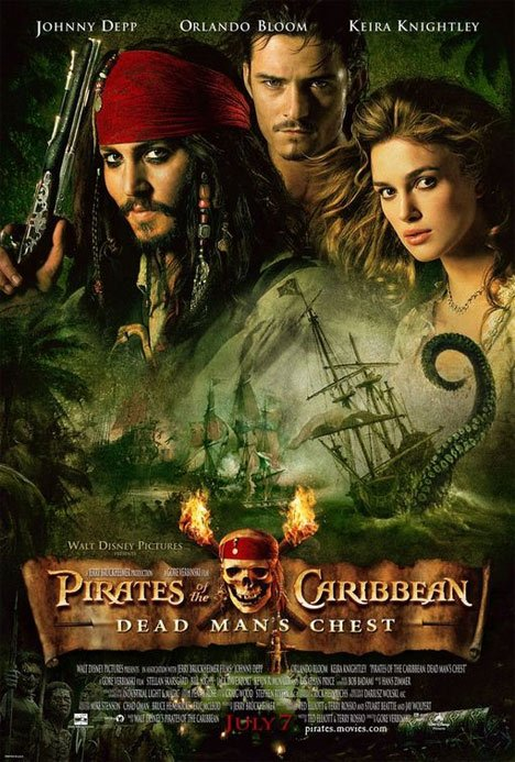 Pirates of the Caribbean: Dead Man's Chest Poster #1