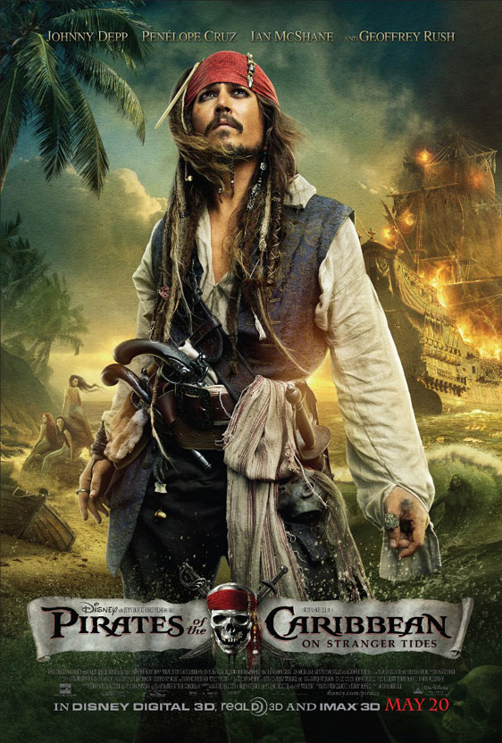 Pirates of the Caribbean: On Stranger Tides Poster #4
