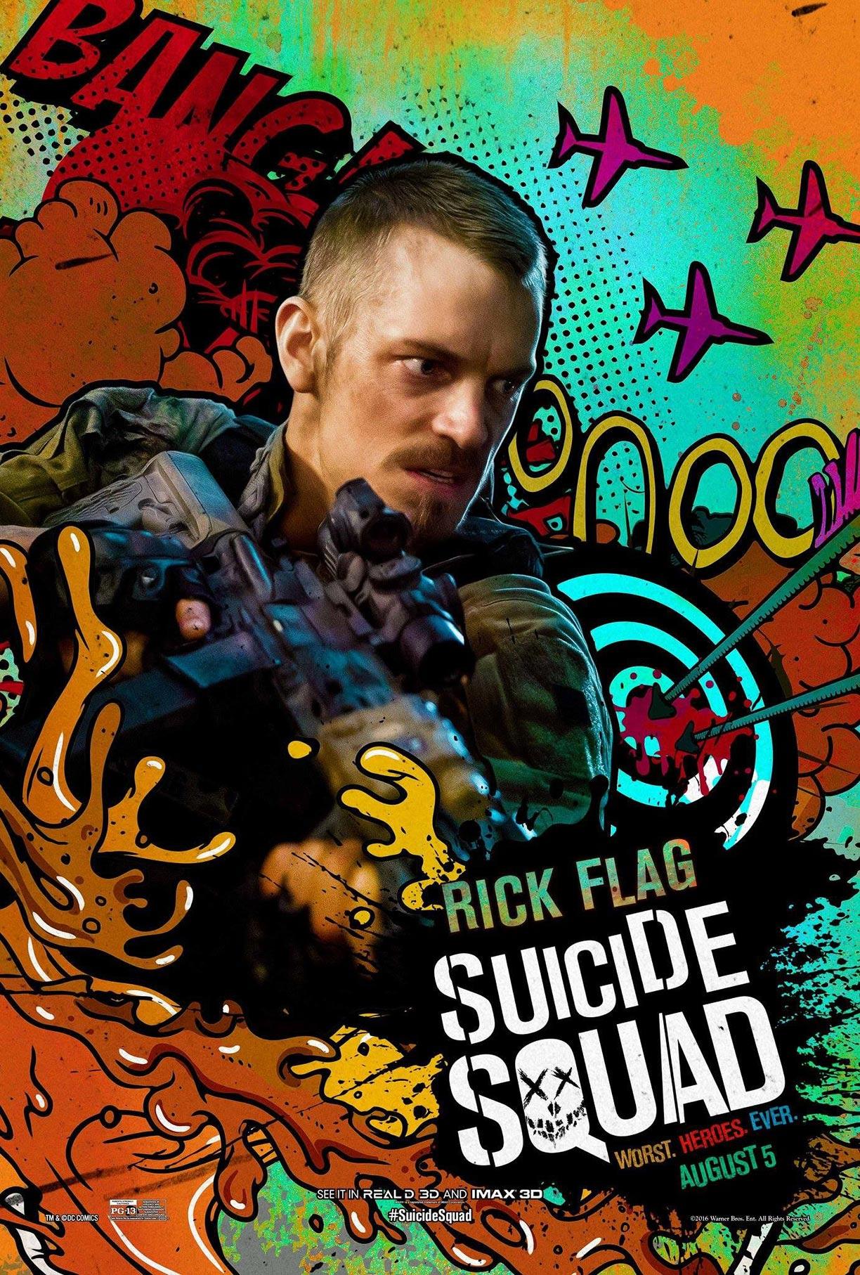 suicide squad 2016 poster 41 trailer addict. Black Bedroom Furniture Sets. Home Design Ideas
