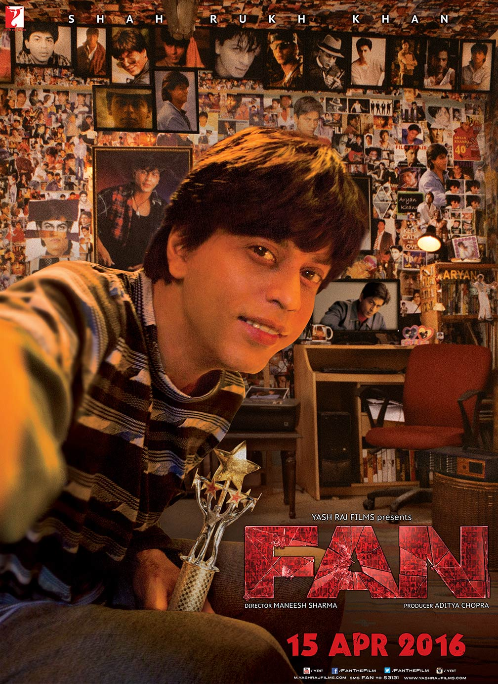 Fan 2016 poster 1 trailer addict for Farcical hindi