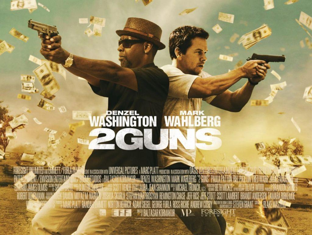 2 Guns Quad Poster
