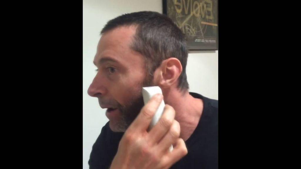 Hugh Jackman Instagram Shave
