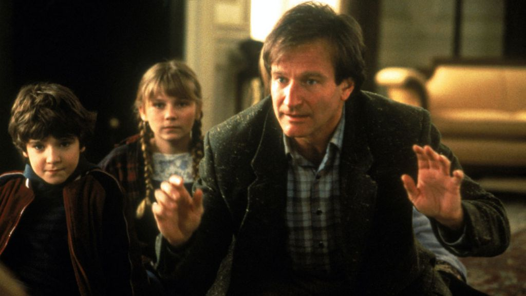 JUMANJI, Bradley Pierce, Kirsten Dunst, Robin Williams, 1995