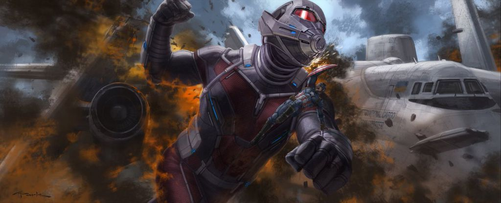 Ant-Man in Conceptual Art for Captain America: Civil War