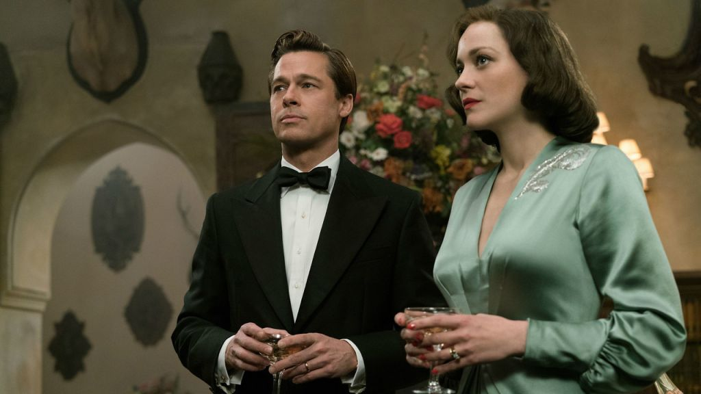 Allied Brad Pitt and Marion Cotillard