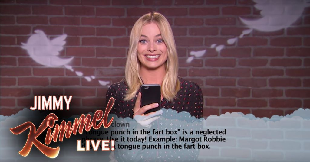 Margot Robbie Mean Tweets Jimmy Kimmel