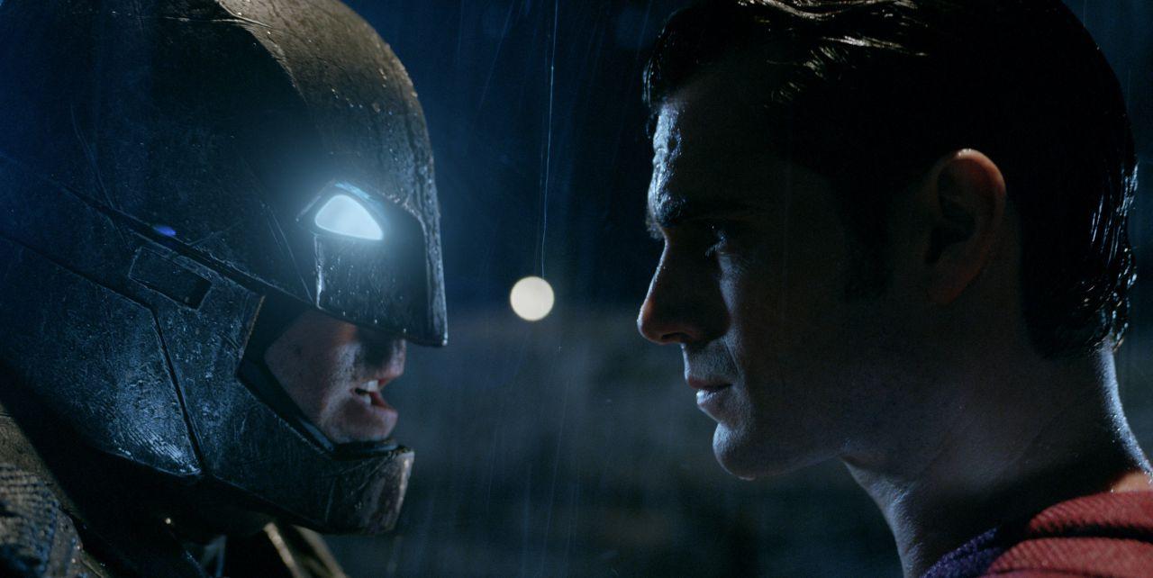 Batman v Superman Face to Face