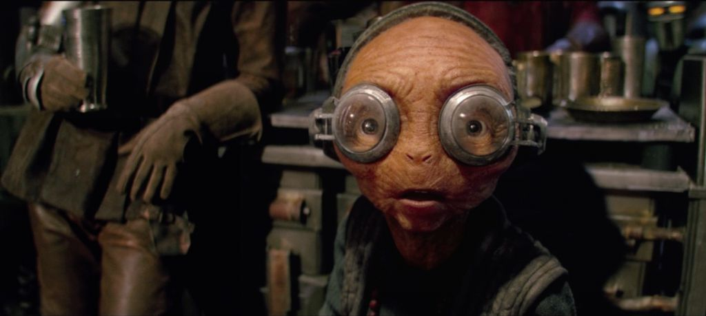 Maz Kanata in Force Awakens