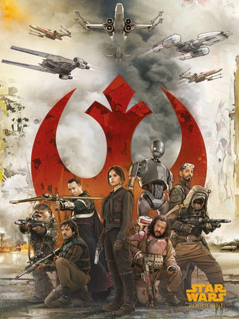 Rogue One Pyramid Poster Rebels