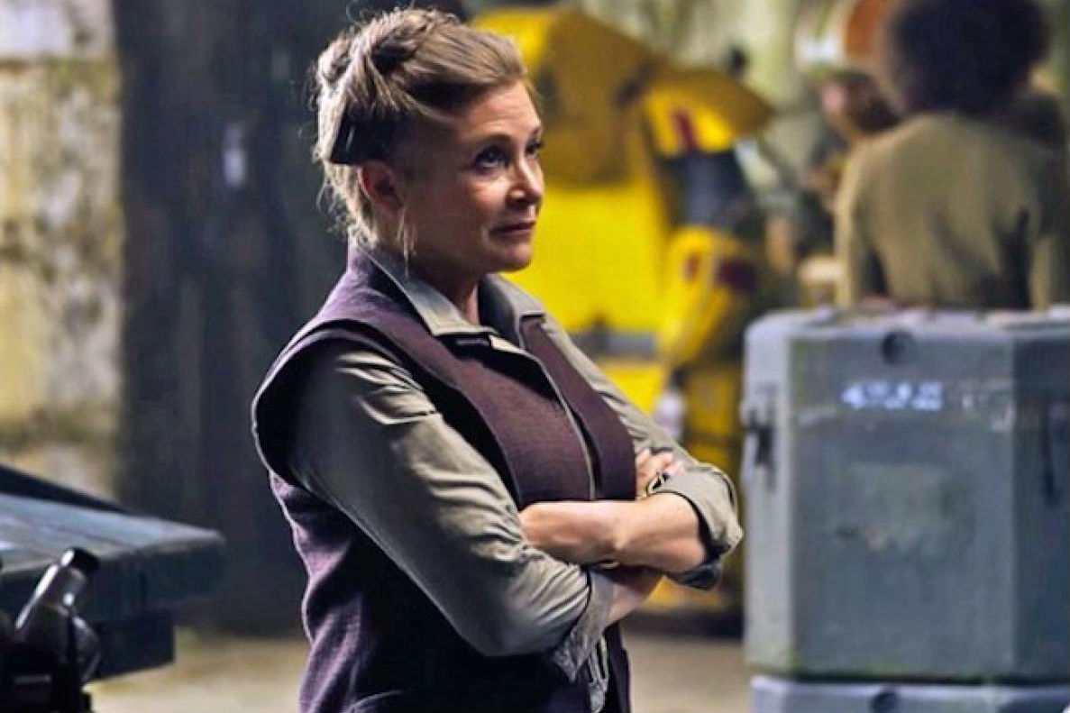 Carrie Fisher in The Force Awakens