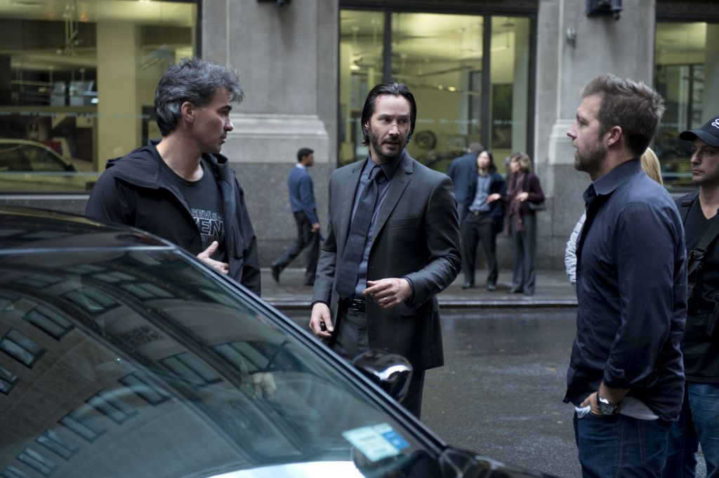 David Leitch on set of John Wick