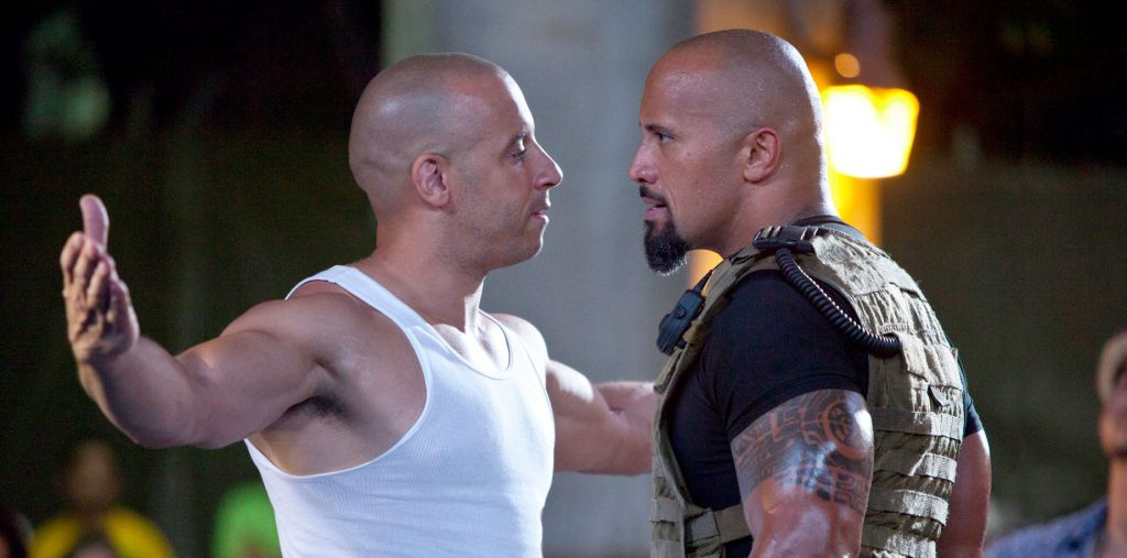 Vin Diesel and Dwayne Johnson in Fast Five
