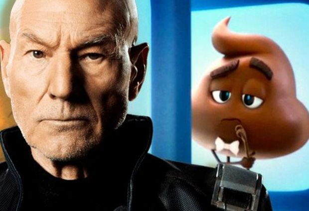 The Emoji Movie Casts Patrick Stewart As Voice Of The Poop Icon