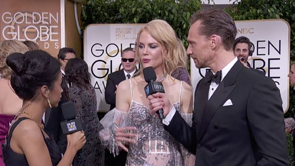 Tom Hiddleston and Nicole Kidman