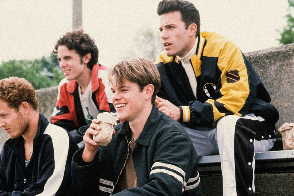 Ben Affleck and Matt Damon and Casey Affleck in Good Will Hunting